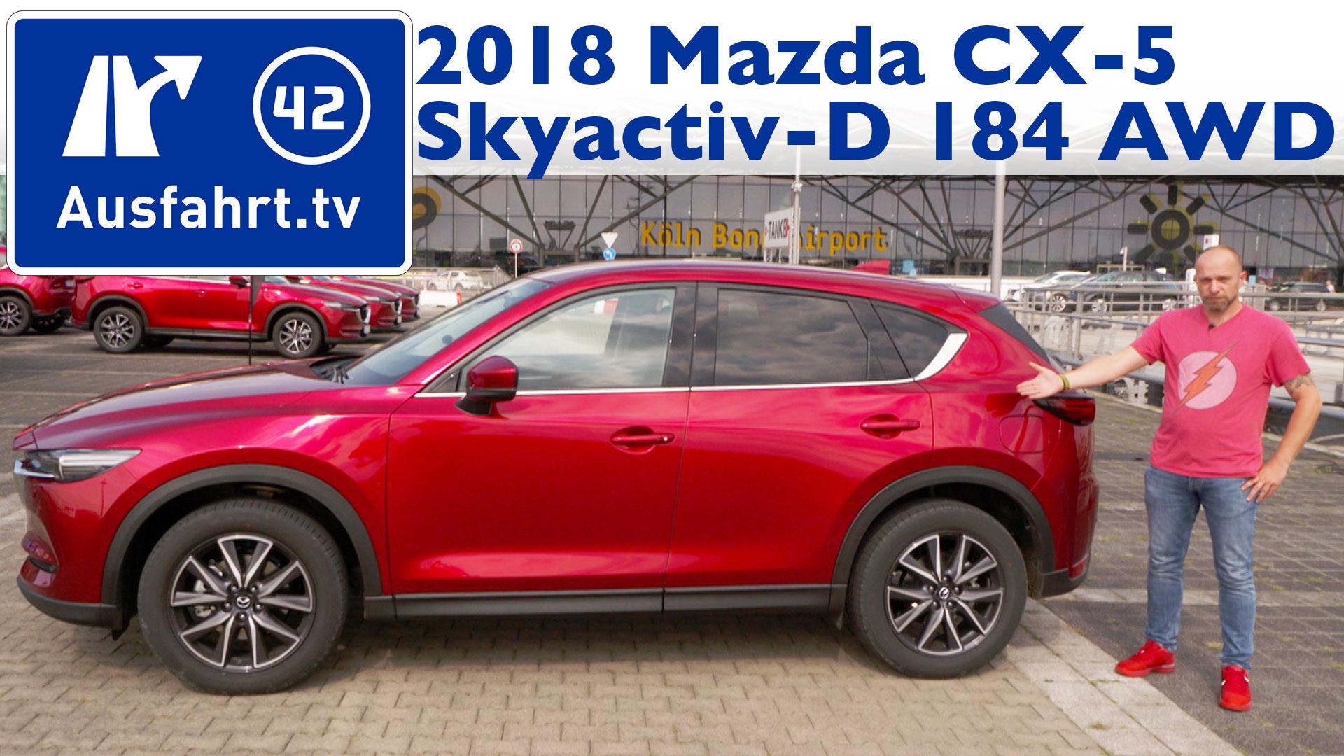 2018 Mazda Cx 5 Skyactiv D 184 Awd Sports Line My2018 Ausfahrttv