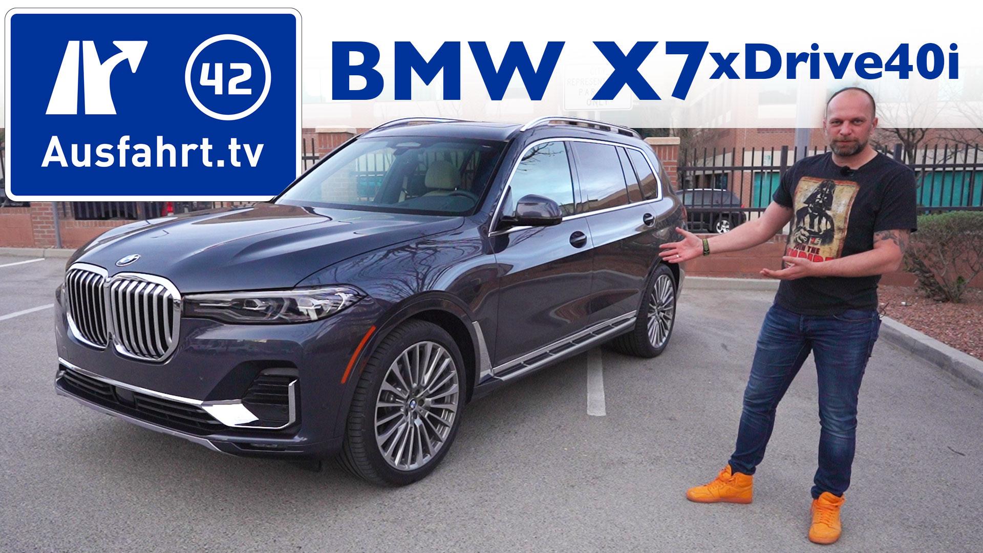 2019 Bmw X7 Xdrive40i Luxury Ausfahrttv
